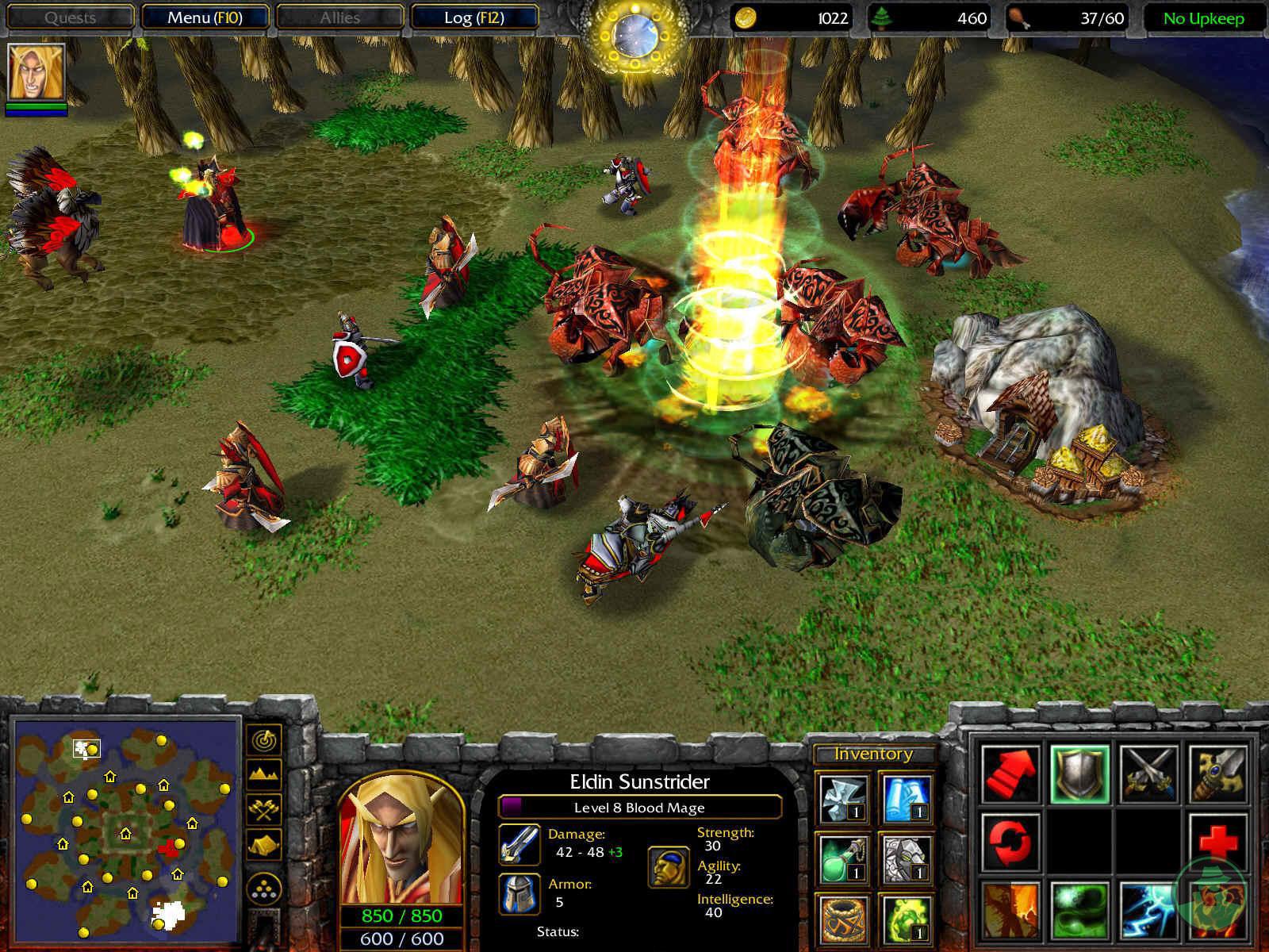 Warcraft 3 frozen throne orc scenario exploited movie
