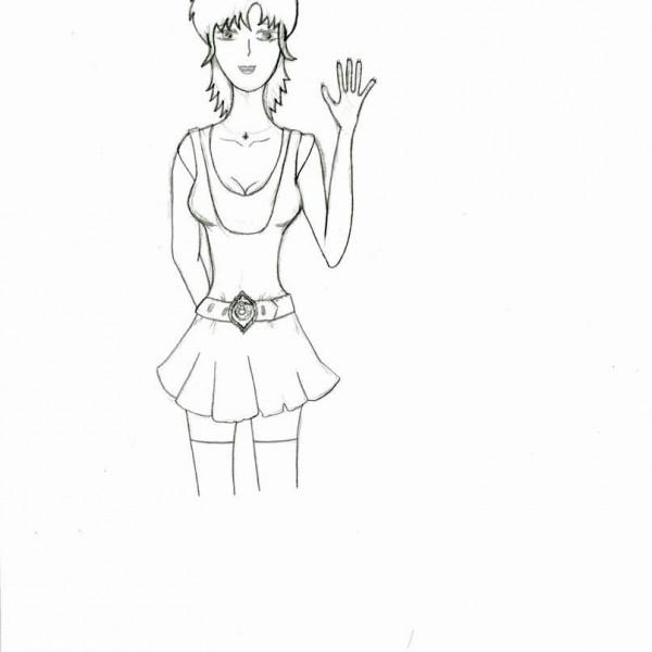 учимся рисовать аниме карандашом.